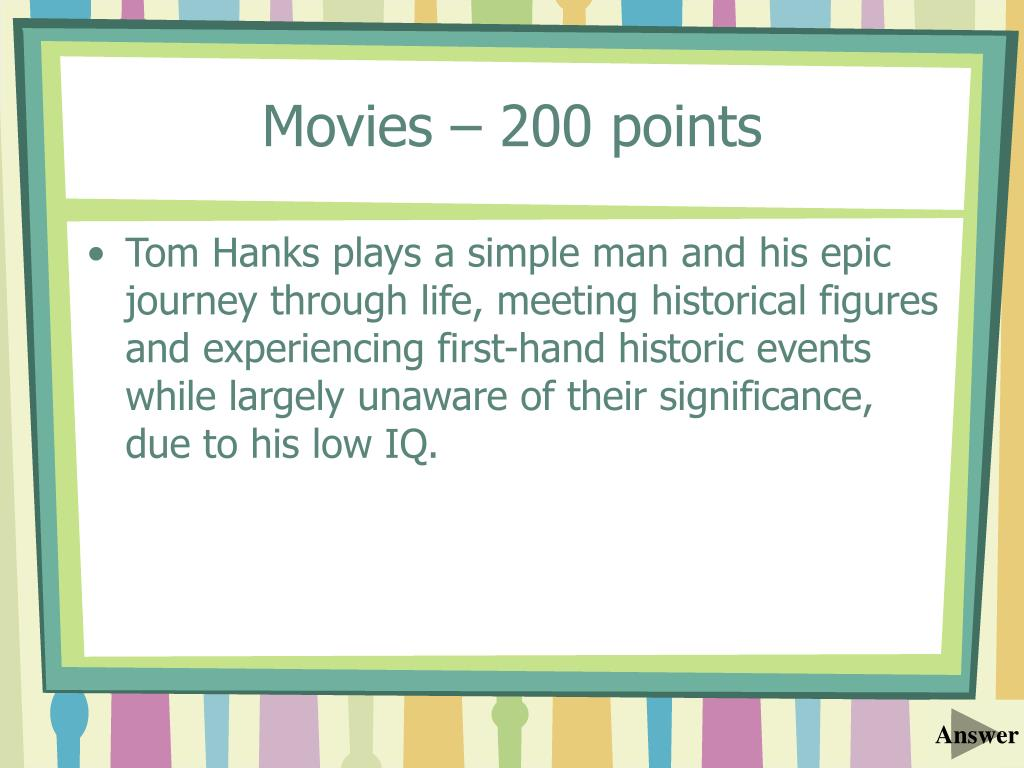 Movies – 200 points