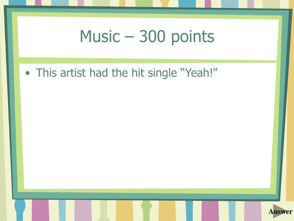 Music – 300 points