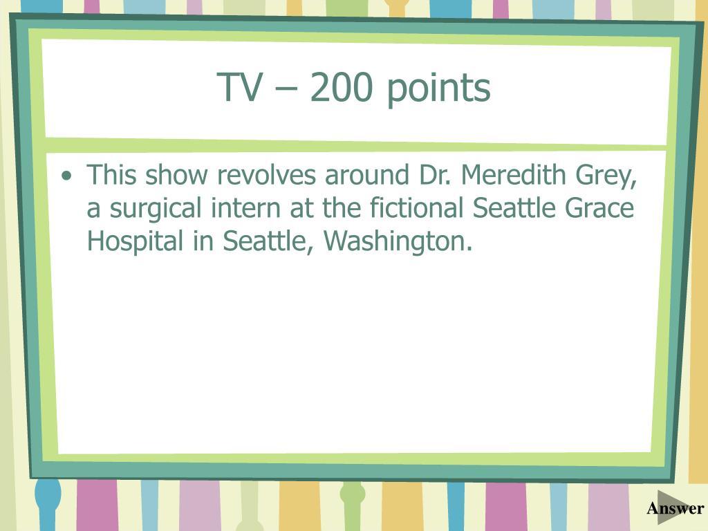 TV – 200 points