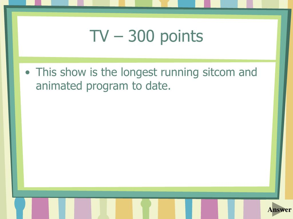TV – 300 points