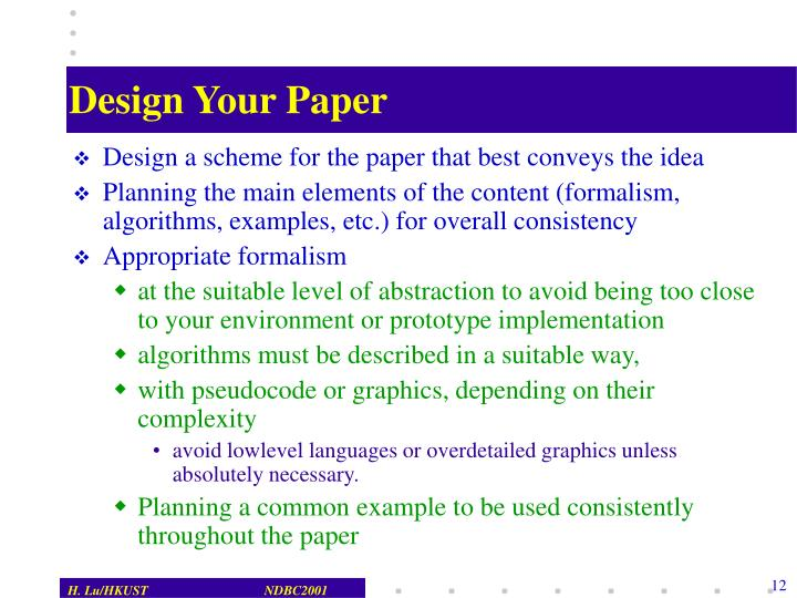 Design Your Paper