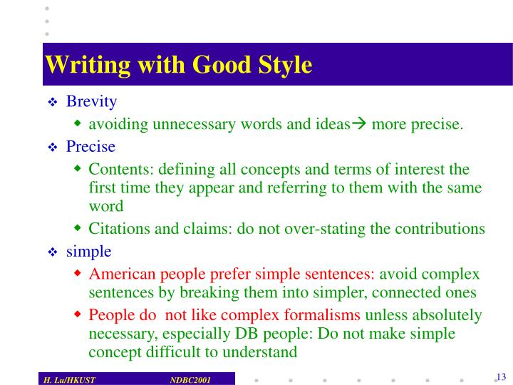 Writing with Good Style