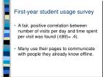 first year student usage survey12