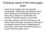 changing nature of the food supply chain