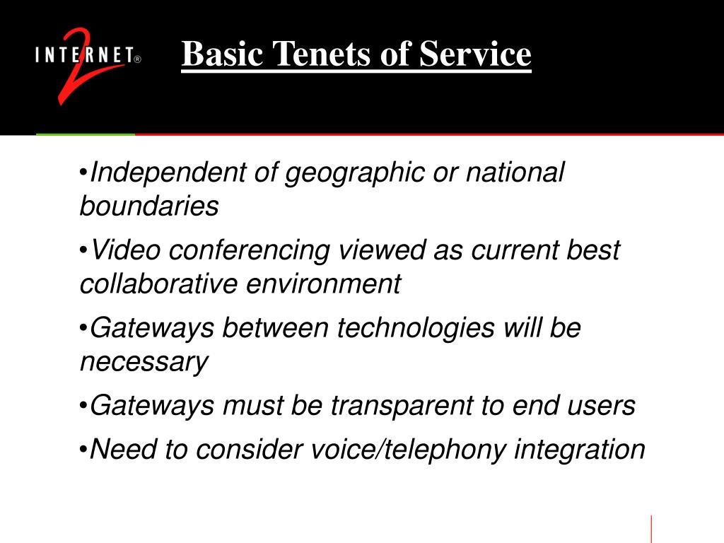 Basic Tenets of Service