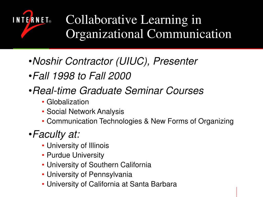 Collaborative Learning in Organizational Communication