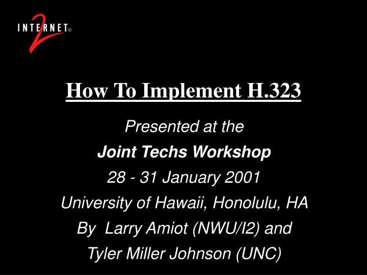 How to implement h 323