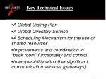 key technical issues
