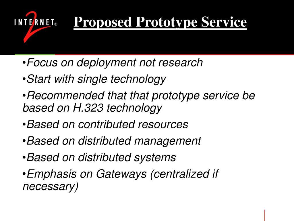 Proposed Prototype Service