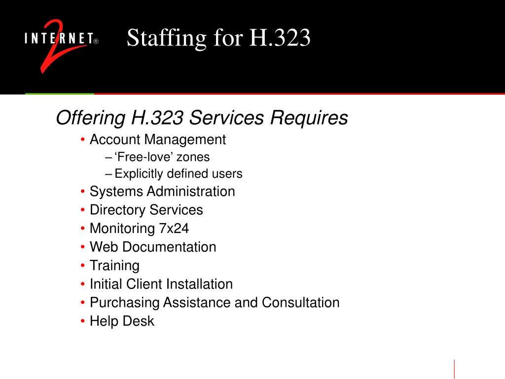 Staffing for H.323