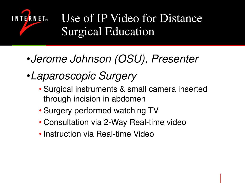 Use of IP Video for Distance Surgical Education