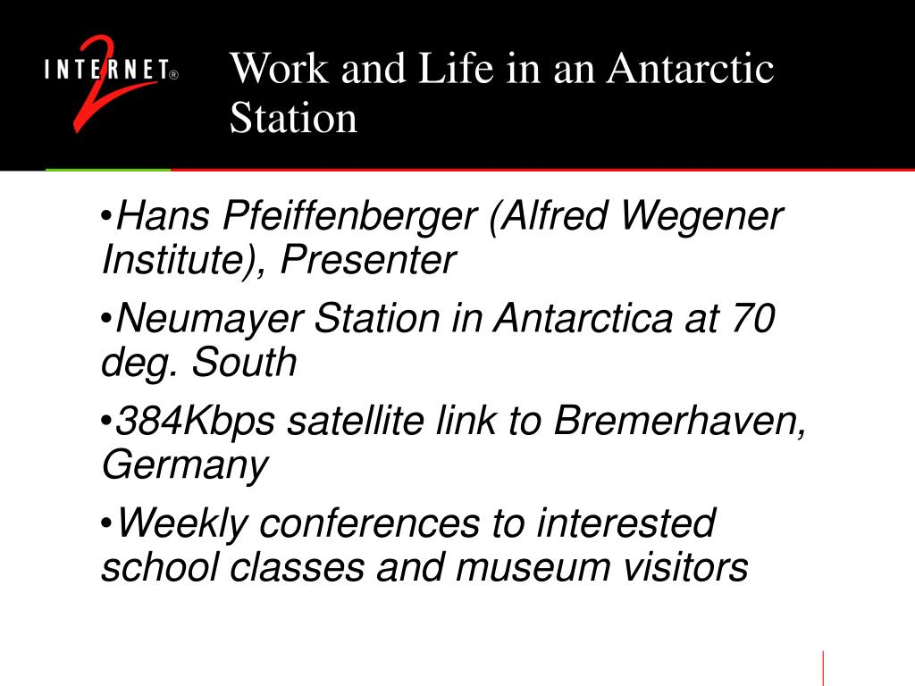 Work and Life in an Antarctic Station