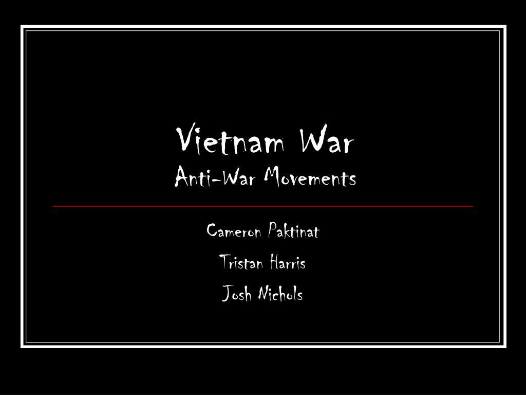 vietnam war anti war movements l.