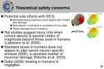theoretical safety concerns