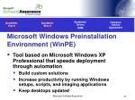 microsoft windows preinstallation environment winpe