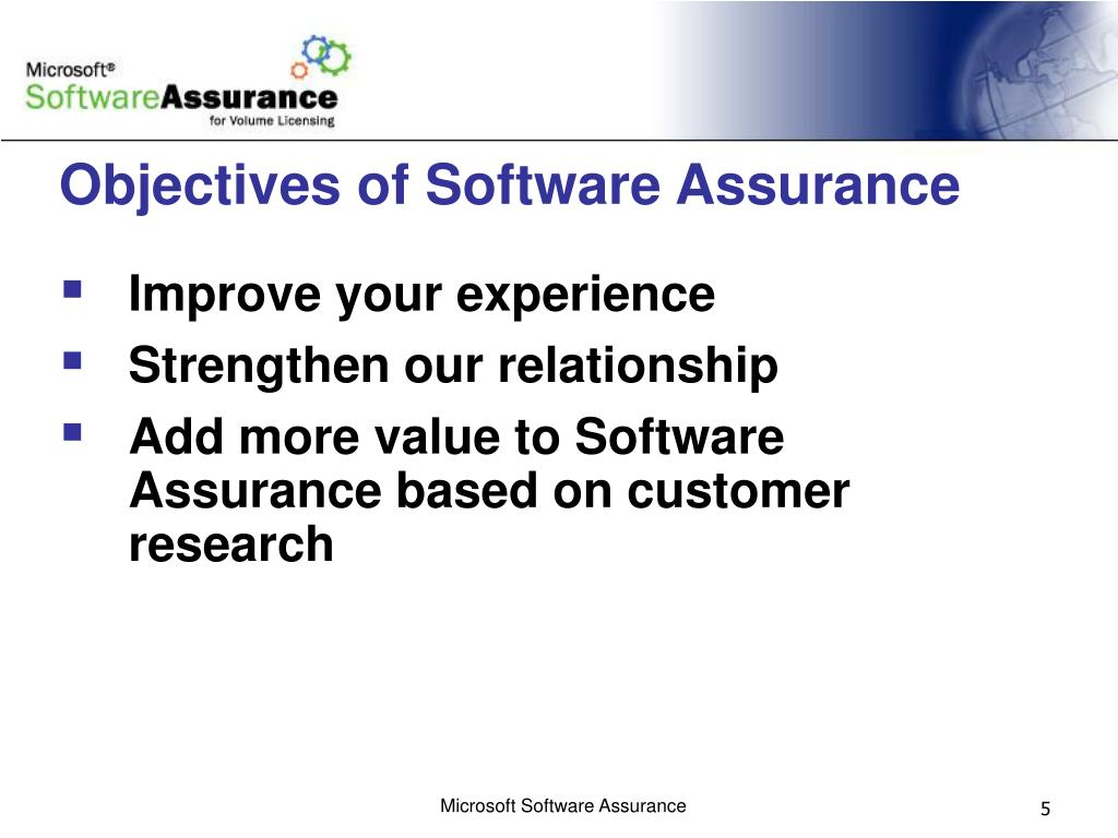 Objectives of Software Assurance