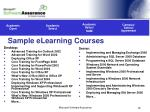 sample elearning courses