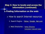 step 3 how to locate and access the information continued14