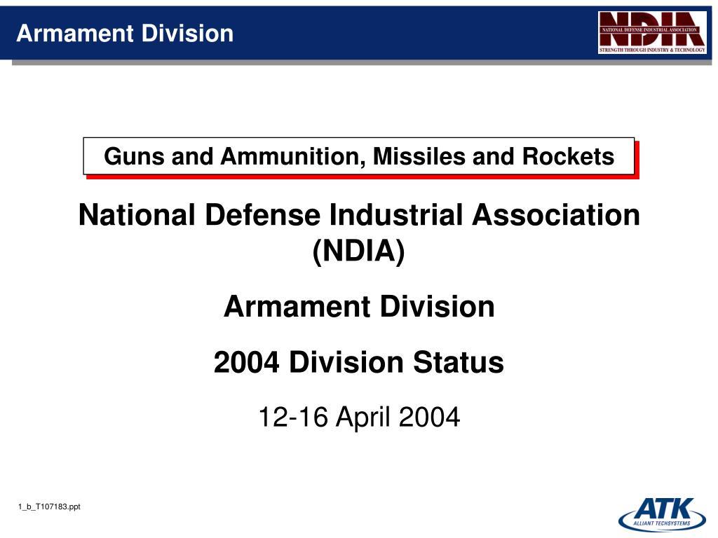 armament division l.