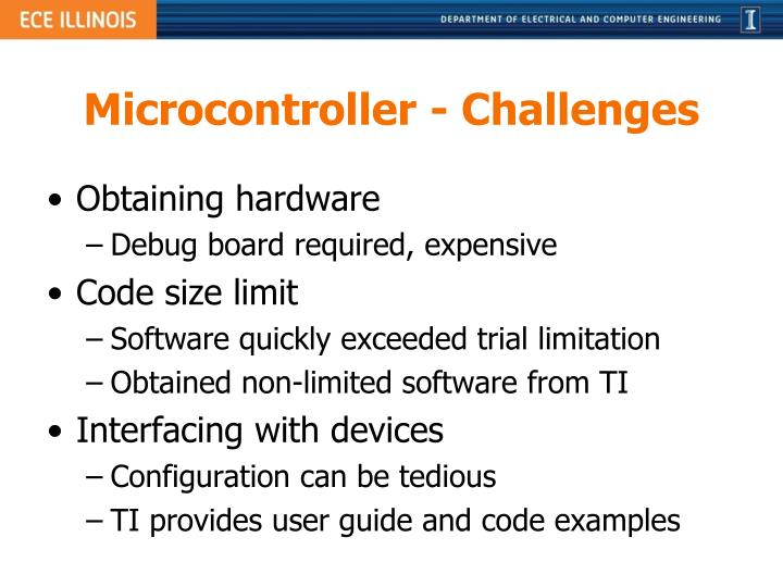 Microcontroller - Challenges