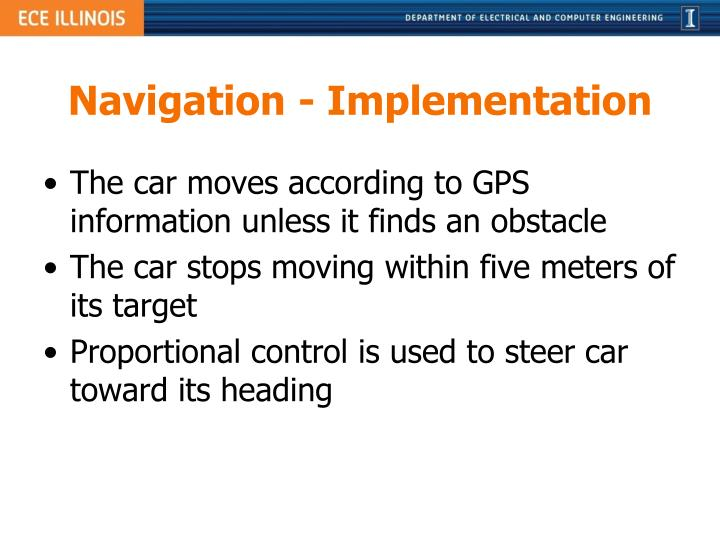 Navigation - Implementation