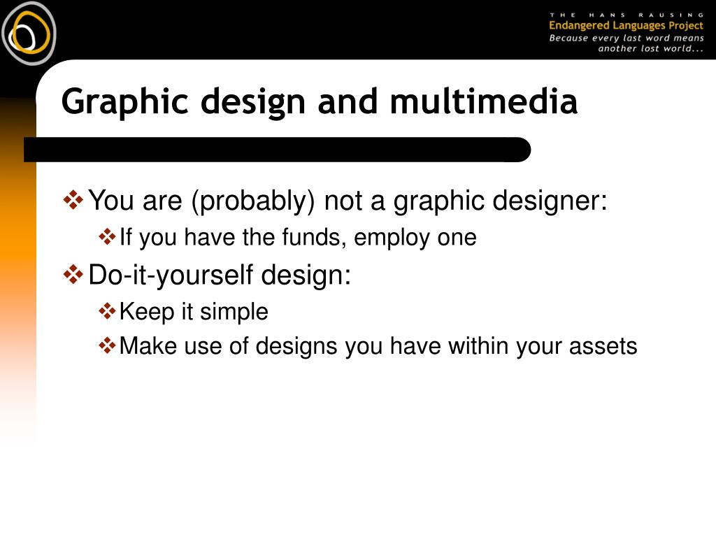 Graphic design and multimedia