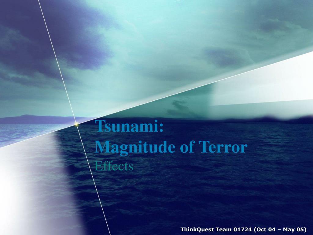 tsunami magnitude of terror l.