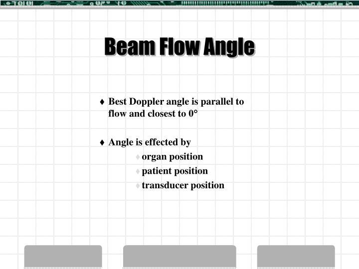 Beam Flow Angle