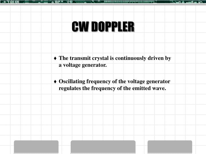 CW DOPPLER