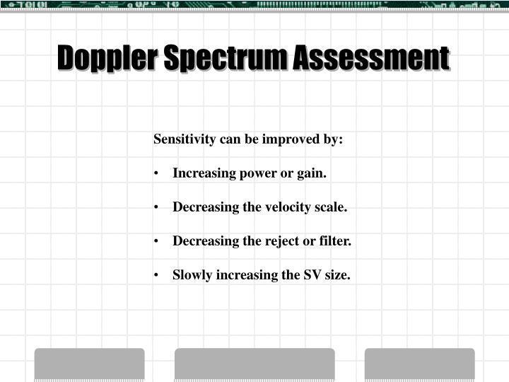 Doppler Spectrum Assessment