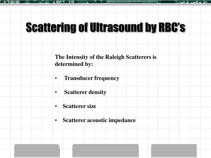 Scattering of Ultrasound by RBC's