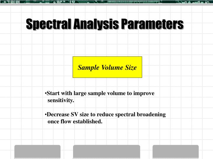 Spectral Analysis Parameters
