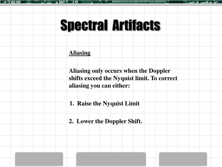 Spectral  Artifacts