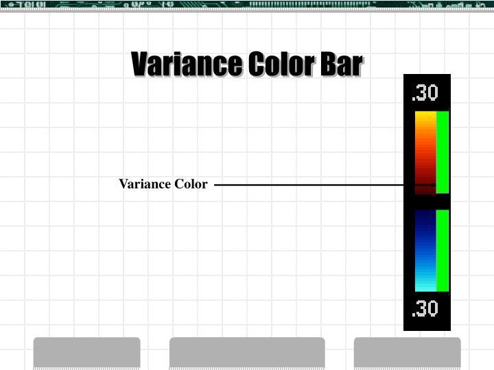 Variance Color Bar