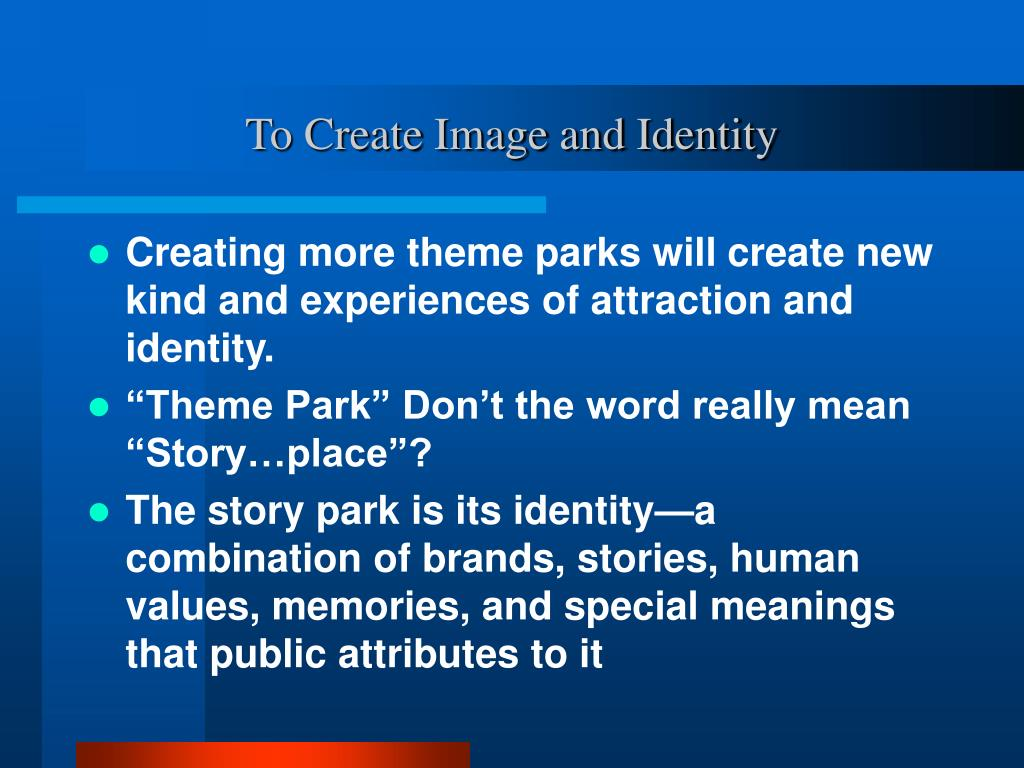 To Create Image and Identity