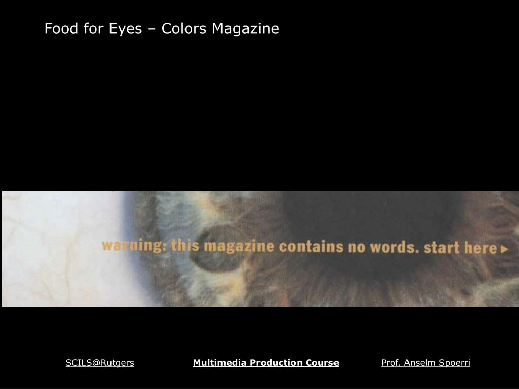 Food for Eyes – Colors Magazine