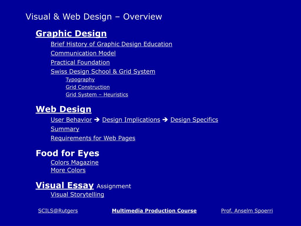 visual web design overview l.