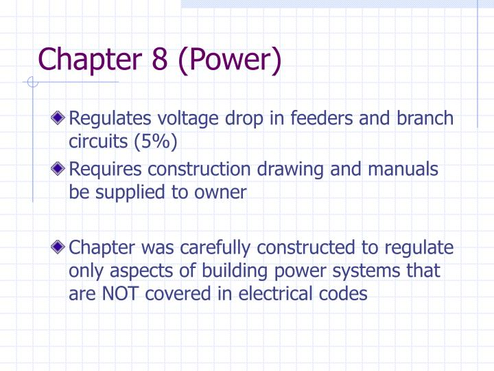 Chapter 8 (Power)