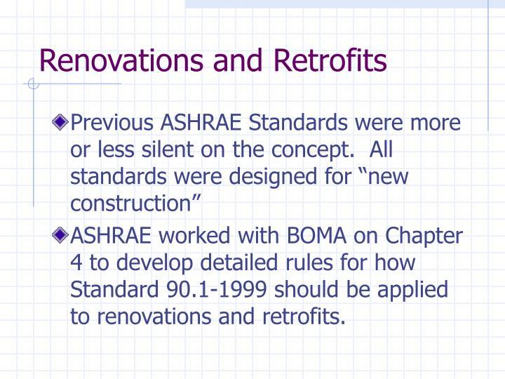 Renovations and Retrofits