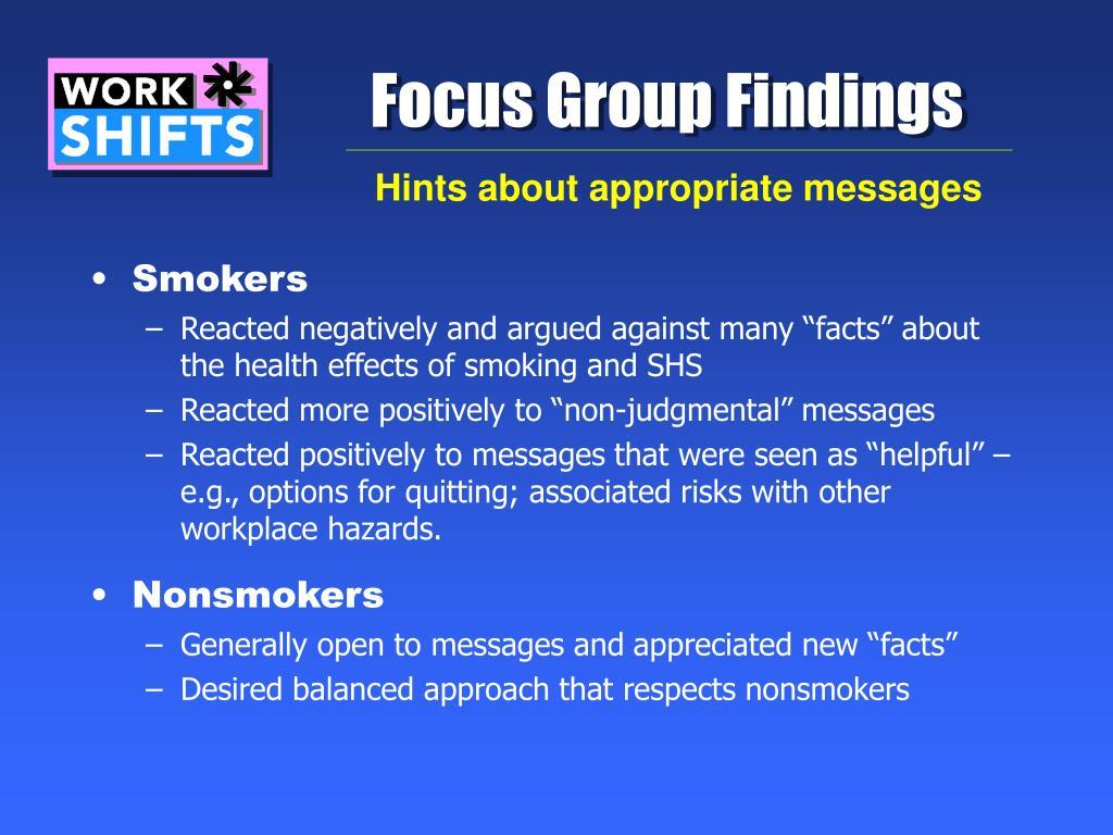 Focus Group Findings