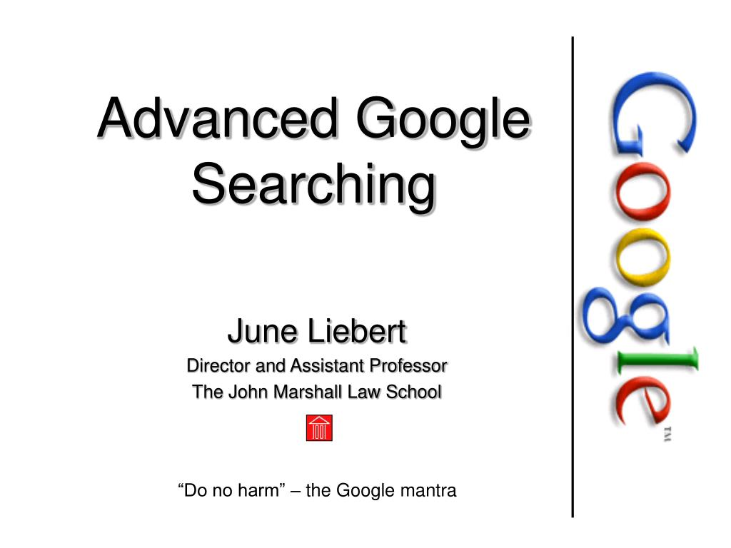 advanced google searching l.