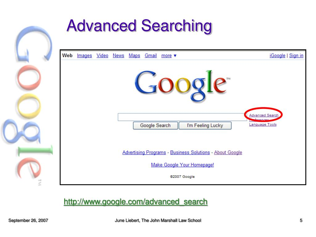Advanced Searching