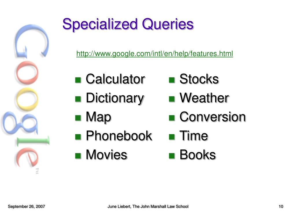 Specialized Queries
