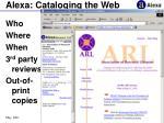 alexa cataloging the web