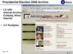 presidential election 2000 archive