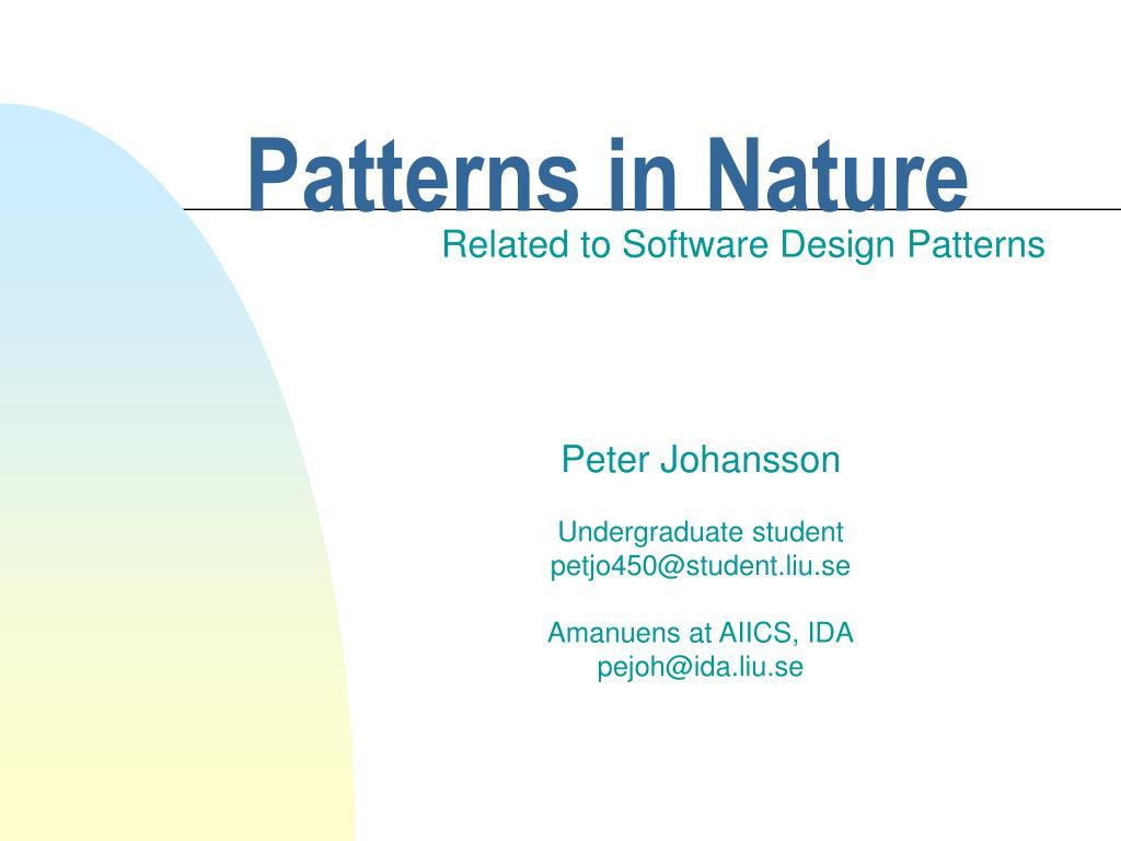 patterns in nature l.