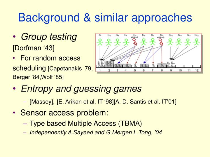Background & similar approaches