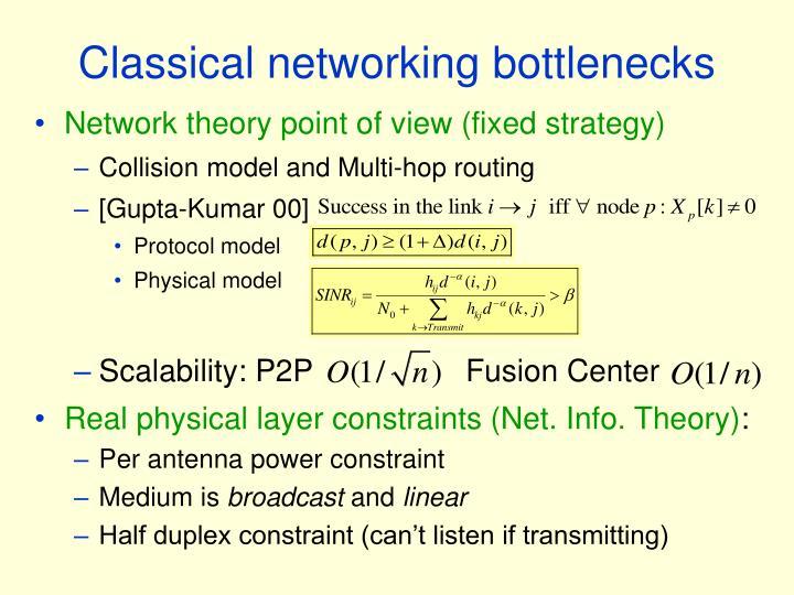 Classical networking bottlenecks