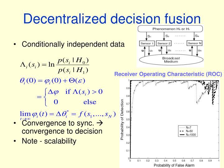 Decentralized decision fusion