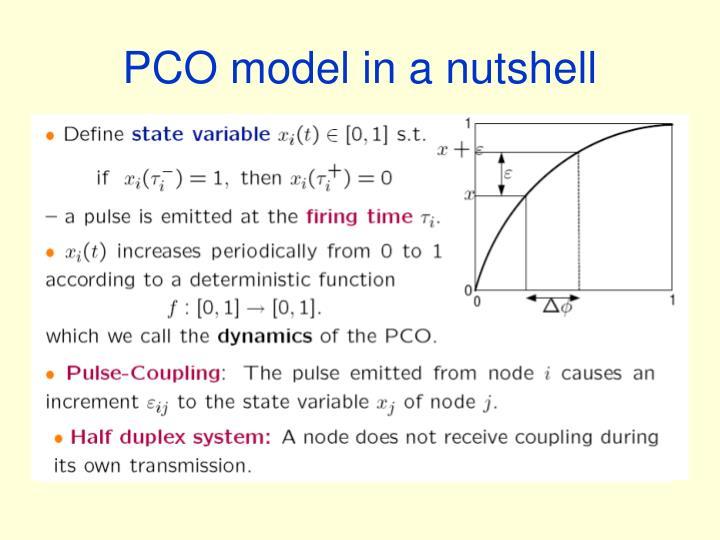 PCO model in a nutshell